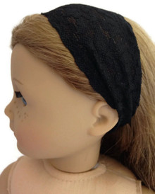 6 of Stretchy Lace Headband-Black