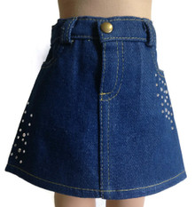 3 of Denim Jean Skirt with Rhinestones