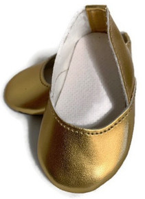 3 pair of Princess Shoes-Gold