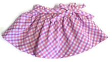 3 of Plaid Skirt with Tie Bow-Pink & Lavender