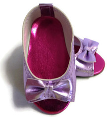 3 of Peep Hole Sandals-Metallic Lavender