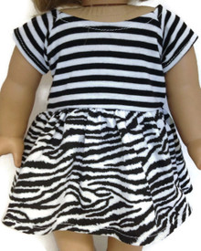 3 of Black & White Zebra & Stripes Top