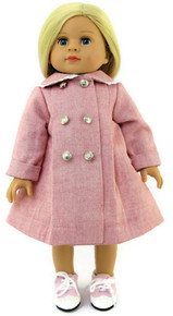 Pink Coat with Silver Buttons