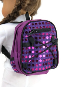 Backpack-Purple with Sequins
