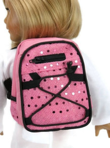 Backpack-Pink with Sequins