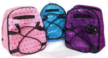 Trio of Backpacks with Sequins-Pink, Purple & Blue