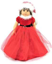 Red Christmas Gown and Hat