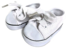 Low Top Canvas Tennis Shoes-White