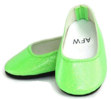 Glitter Slip On Dress Shoes-Lime Green