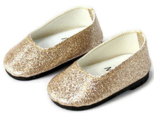 Glitter Slip On Dress Shoes-Gold