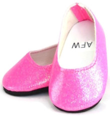 Glitter Slip On Dress Shoes-Hot Pink
