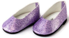 Glitter Slip On Dress Shoes-Lavender