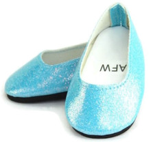 Glitter Slip On Dress Shoes-Turquoise