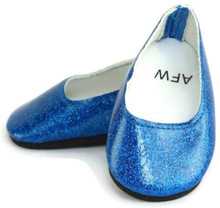Glitter Slip On Dress Shoes-Royal Blue