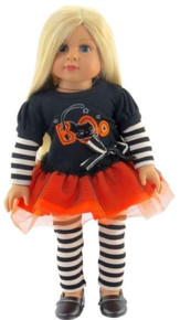 Halloween Tutu Dress & Striped Leggings