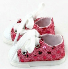 Sequined Tennis Shoes-Pink for Wellie Wishers Dolls