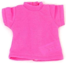 Short Sleeved Knit Top-Hot Pink for Wellie Wishers Dolls