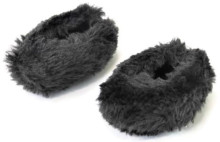 Fuzzy slipper Shoes-Black for Wellie Wishers Dolls