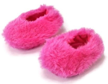 Fuzzy slipper Shoes-Hot Pink for Wellie Wishers Dolls