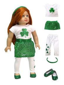 St Patrick's Day Shamrock 5 piece Set