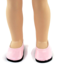 Flats Dress Shoes-Pink for Wellie Wishers Dolls