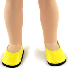 Flats Dress Shoes-Yellow for Wellie Wishers Dolls