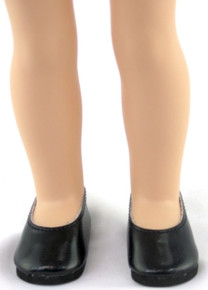 Flats Dress Shoes-Black for Wellie Wishers Dolls