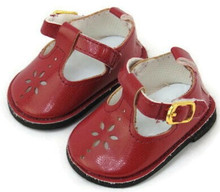 Mary Jane Shoes-Burgundy