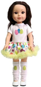 Easter Egg Tutu Dress & Leg Warmers for Wellie Wishers Dolls