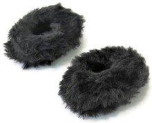 Fuzzy Slippers-Black