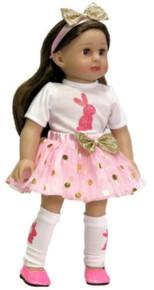 Easter Bunny Top, Tutu Skirt, Headband & Leg Warmers
