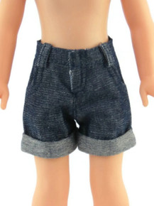 Denim Jean Shorts for Wellie Wishers Dolls