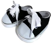 Low Top Canvas Tennis Shoes-Black