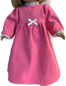 Flannel Nightgown-Pink with Bow