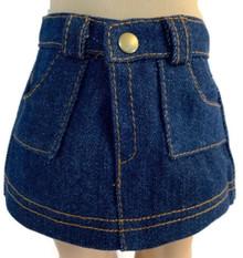 3 Mini Denim Jean Skirts