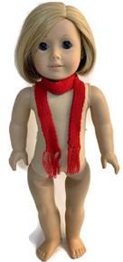6 Knit Scarfs-Red