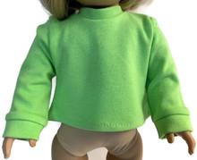 Long Sleeved Knit Shirt-Lime Green