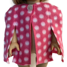 Fleece Cape-Pink with White Polka Dots
