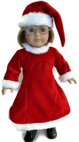 3 Red Santa Dresses and Hats
