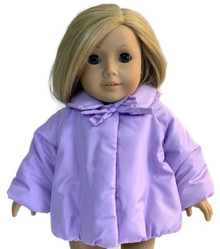 3 Puffy Jackets with Bow-Lavender