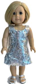 3 Sleeveless Sequin Dresses-Silver