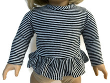 Striped Long Sleeved Top-Black & White
