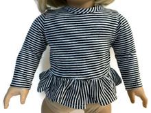 3 Striped Long Sleeved Tops-Black & White