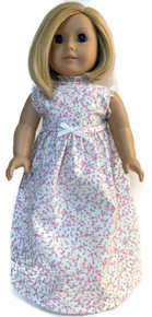 Copy of Summer Nightgown-Floral Print with White Bow