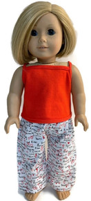 Tank Top &  Sleeping Pants-Red and Valentine's