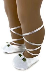 3 pairs Ballerina Slipper Shoes-White