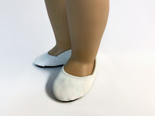 3 pairs of Princess Shoes-White Sparkle