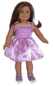 Satin Sundress-Lavender