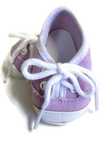 Canvas Tennis Shoes-Lavender