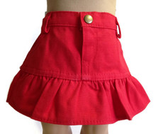 Ruffled Skirt-Red